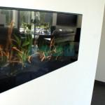 Nowoczesne akwarium w zabudowie